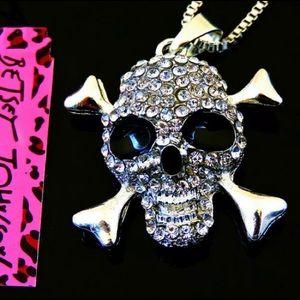 BETSEY JOHNSON~ Crossbones SKull Necklace